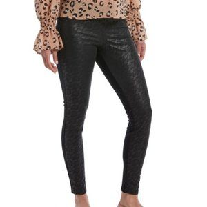 HUE® Womens Lace-Illusion-Front Leggings